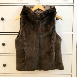 Vintage J. Crew Hooded Teddy Vest M
